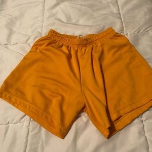 Pants - Yellow Athletic Shorts